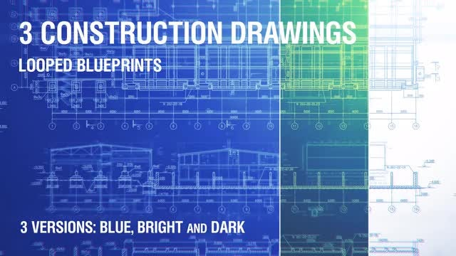 3 Construction Drawings Backgrounds V.2: Stock Motion Graphics