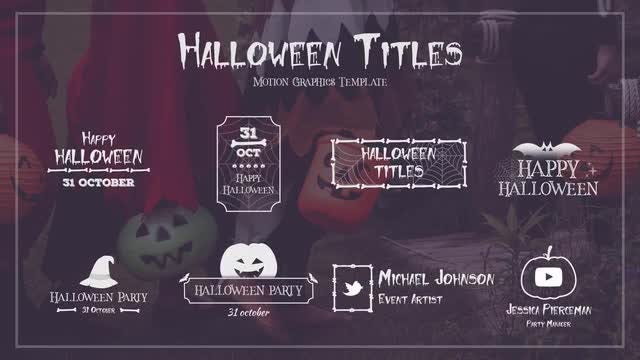 Halloween Titles: Motion Graphics Templates