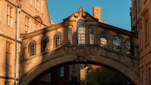 Bridge Of Sighs By Sunset, Oxford: Stock Video