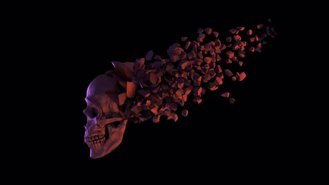Halloween 3D Skull Element: Stock Motion Graphics