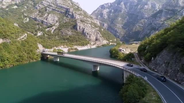 Vehicles Driving On A Bridge: Stock Video