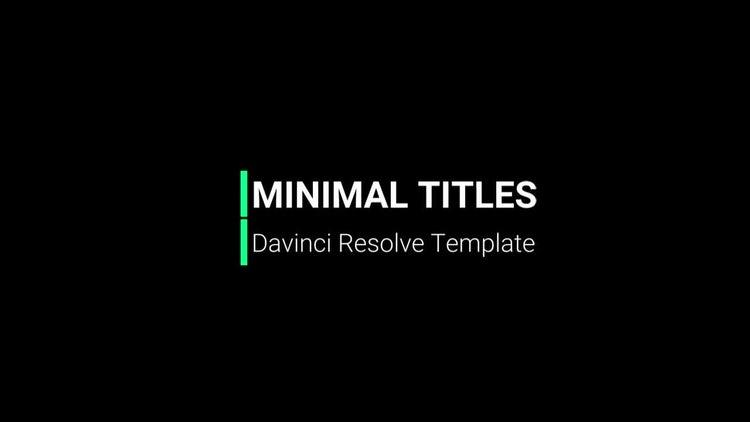 Minimal Titles: DaVinci Resolve Templates
