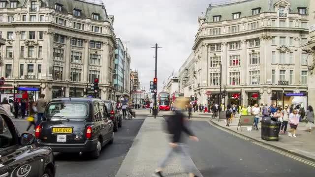 Oxford Street, London Hyperlapse: Stock Video