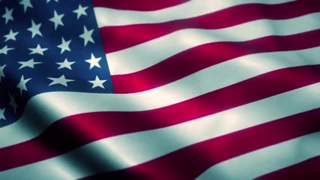 American Flag Blowing: Stock Motion Graphics