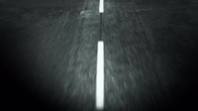 Road Markings At Night Loop: Stock Motion Graphics