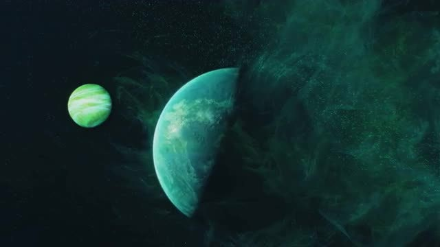 Planet, Moon And Stars: Stock Motion Graphics