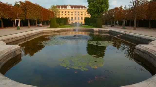Schönbrunn Palace Fountain In Vienna: Stock Video
