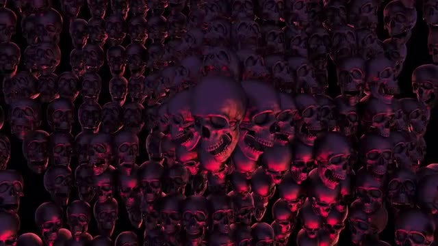 Halloween Skull Background: Stock Motion Graphics