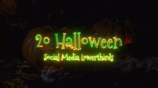 Halloween Neon Social Media Lower Third: After Effects Templates