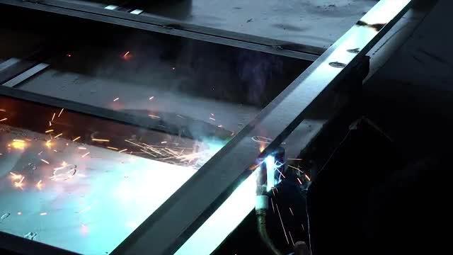 Close-up Shot Of A Welder: Stock Video
