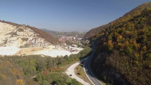Wide-angle View Of A Quarry: Stock Video