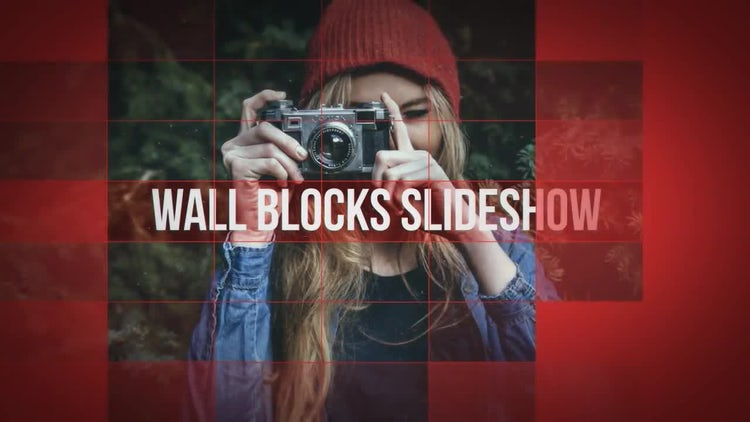 Wall Blocks Slideshow: After Effects Templates