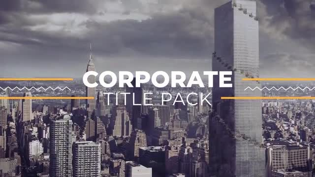 Corporate Titles Pack 4k: Motion Graphics Templates