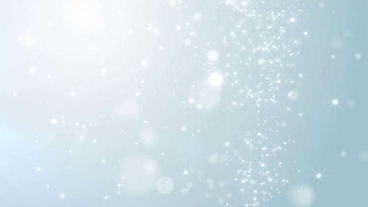 Falling Silver Particles: Motion Graphics