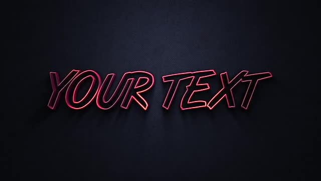 3D Extruded Text: Motion Graphics Templates