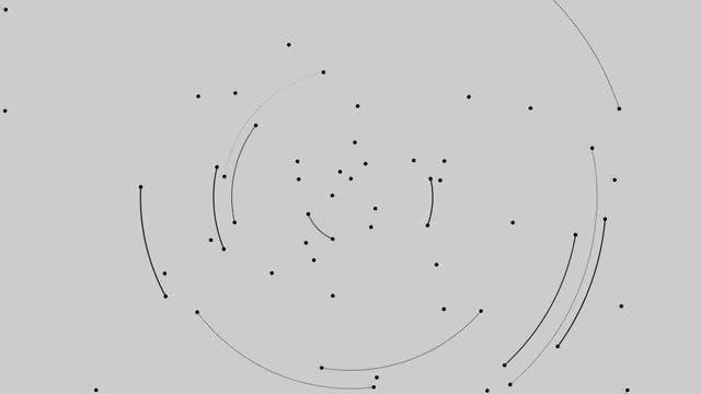 Rotating Dots And Arcs Loop: Stock Motion Graphics