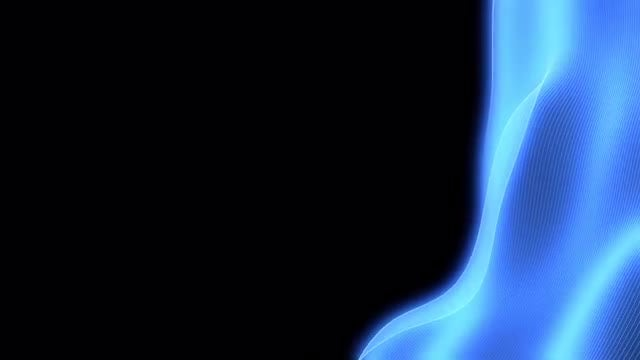 Glowing Blue Hologram Waves Overlay: Stock Motion Graphics