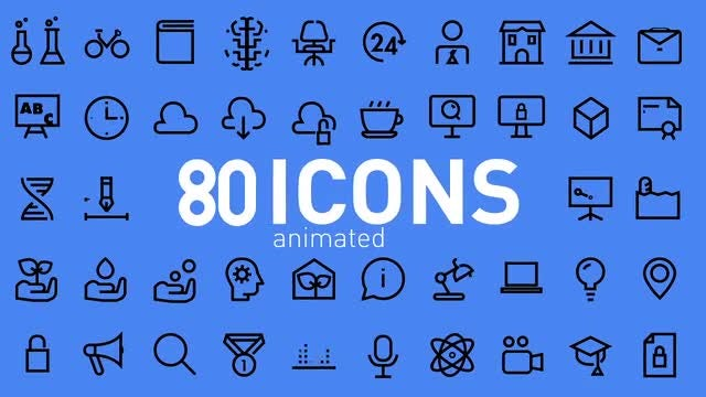 Motion Icons: After Effects Templates