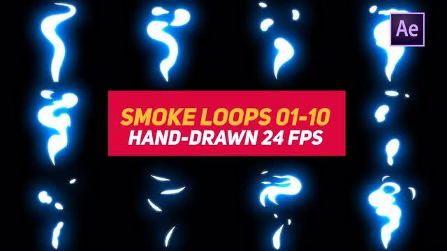 Liquid Elements Smoke Loops 01-10: After Effects Templates