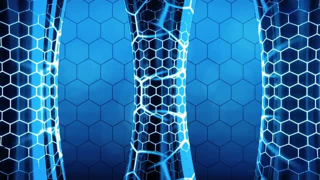 Futuristic Column Background: Stock Motion Graphics