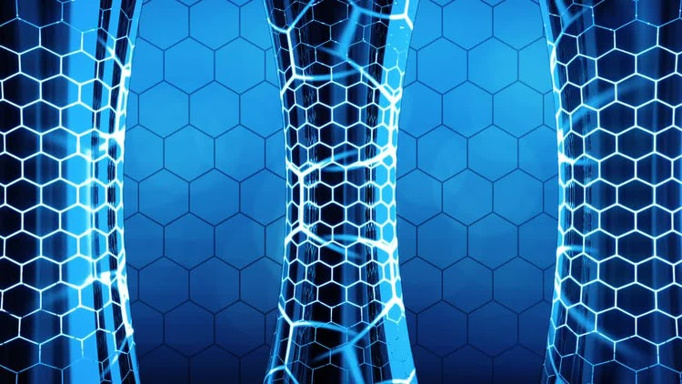 Futuristic Column Background: Motion Graphics