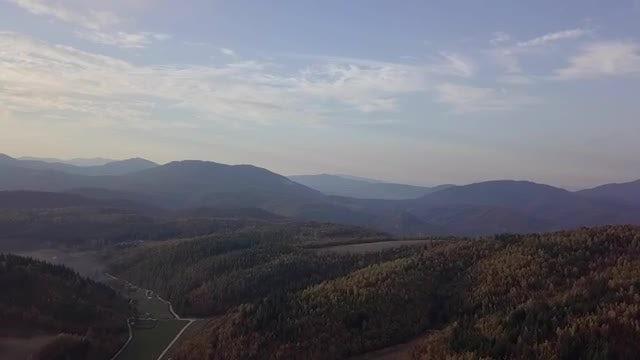 Wide-angle Shot Of Mountain Range: Stock Video