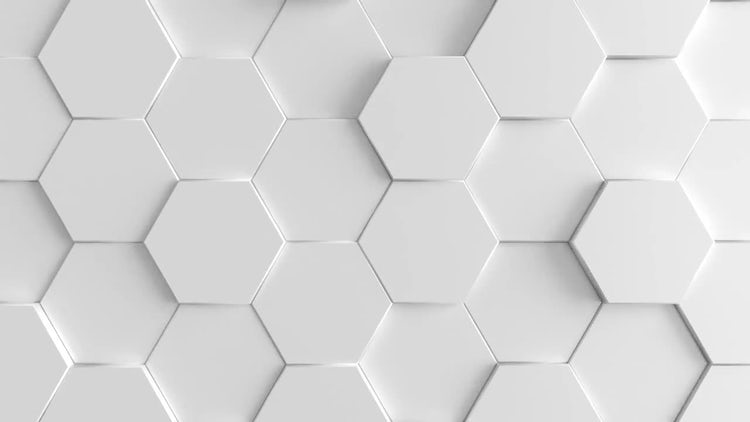 White, Extruding Hexagon Background: Stock Motion Graphics