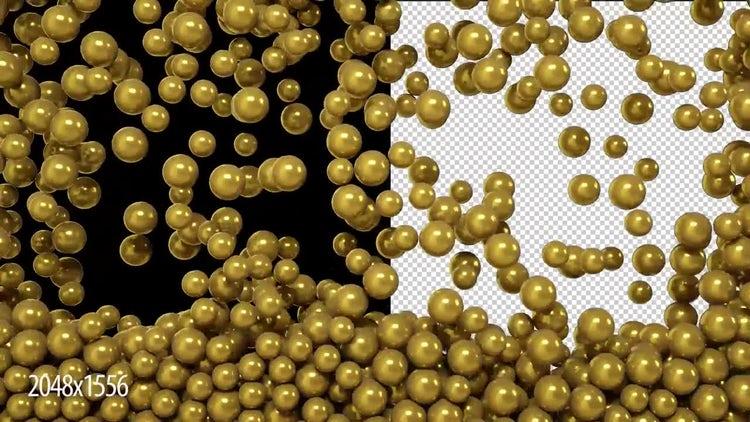 Gold Balls: Stock Motion Graphics
