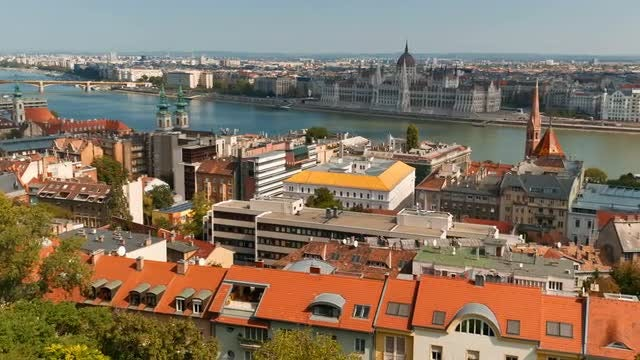 Buda District In Budapest, Hungary: Stock Video