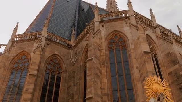 Close-up Shot Of St. Stephen's Cathedral: Stock Video