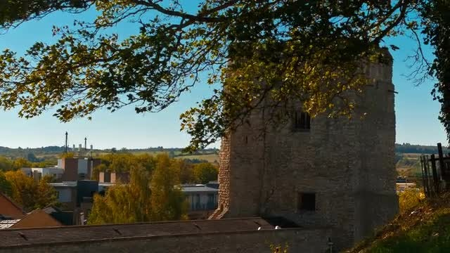 Medieval Castle In Oxford, England: Stock Video