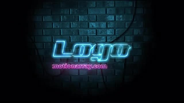 Neon Logo Reveal: After Effects Templates