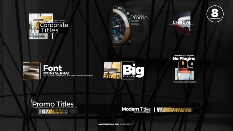 Promo Titles: After Effects Templates