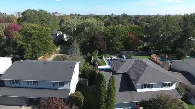 Aerial Shot Of Suburban Homes: Stock Video