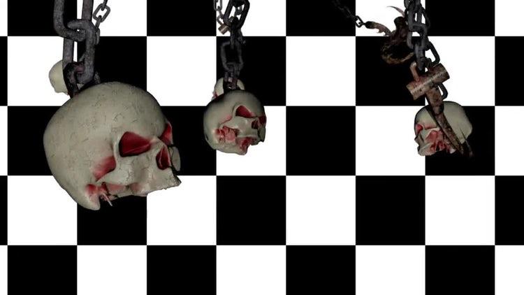 Dangling Skulls and Hooks : Stock Motion Graphics