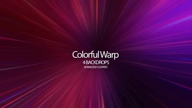 Colorful Warp: Stock Motion Graphics