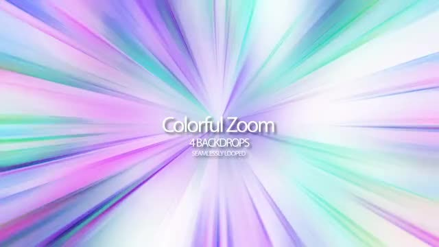 Colorful Zoom: Stock Motion Graphics