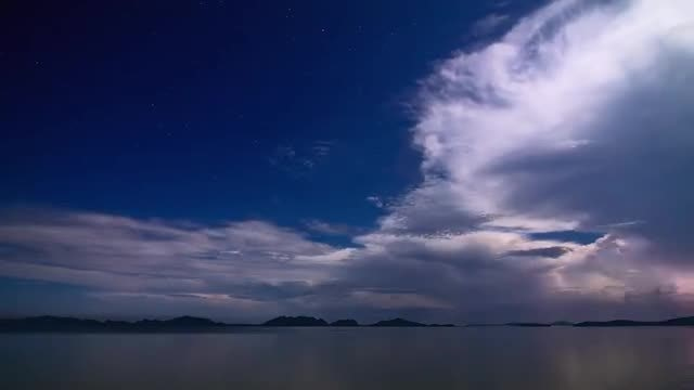 Stormy Night Sea: Stock Video