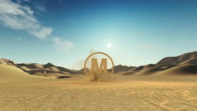 Sand Logo Reveal: After Effects Templates