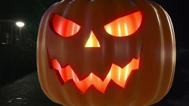 Halloween Pumpkin Transitions: Stock Motion Graphics
