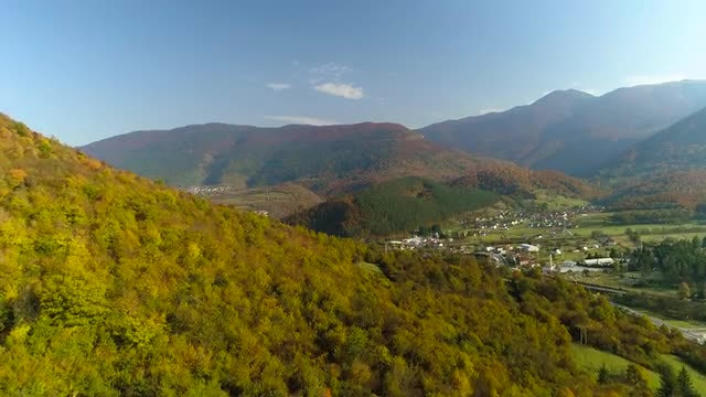 Aerial Shot Of Mountain Landscape: Stock Video