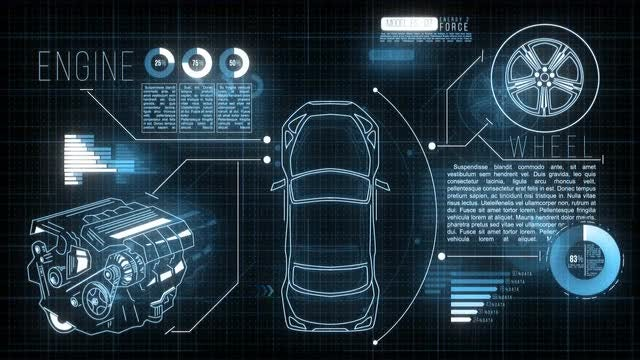 Car HUD Screen: Stock Motion Graphics