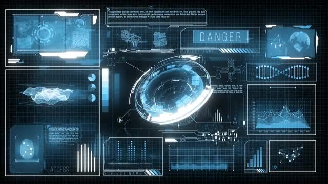 Futuristic HUD Display Data: Stock Motion Graphics