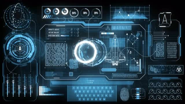 Spaceship HUD Dashboard In 4K: Stock Motion Graphics