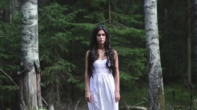 Roadside Woman In White: Stock Video