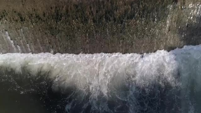 Close-up Shot Of A Waterfall: Stock Video