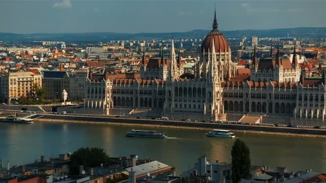 Budapest Parliament By Daytime: Stock Video