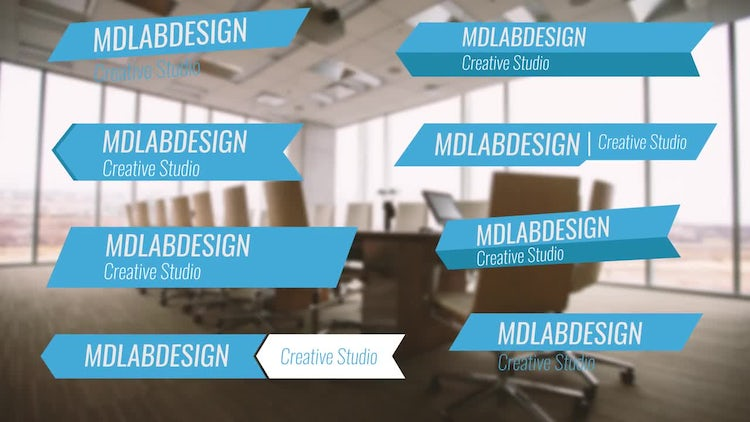 Simple Corporate Lower Thirds: After Effects Templates