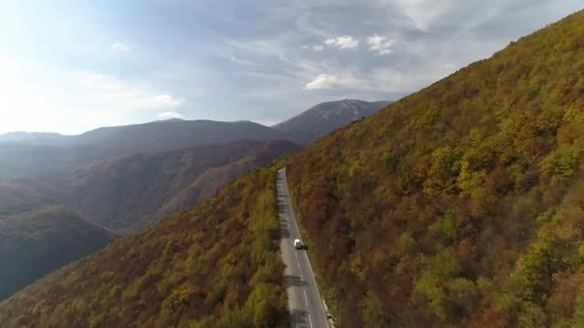 Aerial Shot Of Truck Driving: Stock Video