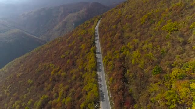 Mountain Road Top View: Stock Video
